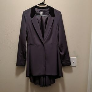 NWOT gorgeous dark grey with black trim jacket